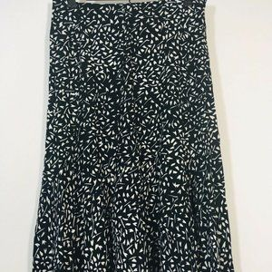 ORVIS Skirt Medium Black and White A Line Midi
